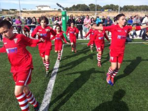 Youth team warm up at the Mare Nostrum Easter Cup