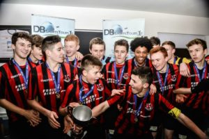 Crusaders FC winning the DB Sports Champions Cup