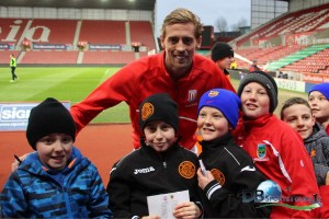 St Kevins Boys with Peter Crouch